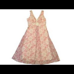 Dress Barn Pink Sleeveless Floral Chiffon Dress